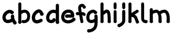 Caricatura Bold Font LOWERCASE