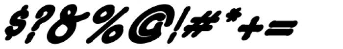Caricatura ExtraBold Italic Font OTHER CHARS