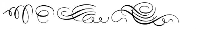 Carioca Script Flourishes Font UPPERCASE