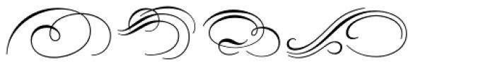 Carioca Script Flourishes Font LOWERCASE
