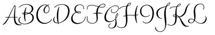 Carioca Script Pro Font UPPERCASE