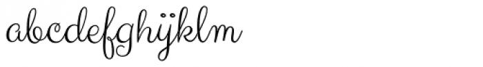 Carioca Script Pro Font LOWERCASE
