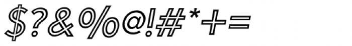 Carisma Inline Oblique Font OTHER CHARS
