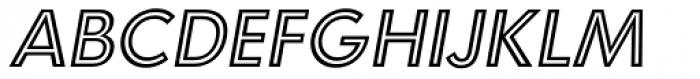Carisma Inline Oblique Font UPPERCASE
