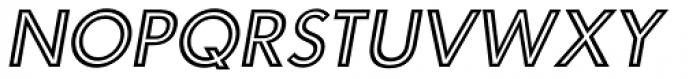 Carisma Inline Oblique Font LOWERCASE