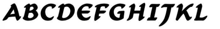 Carlin Script Bold Italic Font UPPERCASE