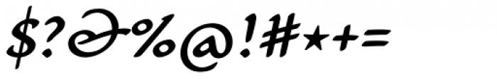 Carlin Script Medium Italic Font OTHER CHARS