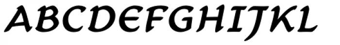 Carlin Script Medium Italic Font UPPERCASE