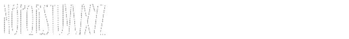 Carlino Bold Dots Solo Font UPPERCASE