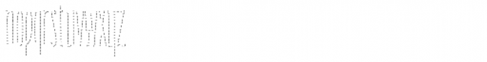 Carlino Bold Dots Solo Font LOWERCASE