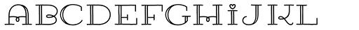 Carlino Capitals Font LOWERCASE