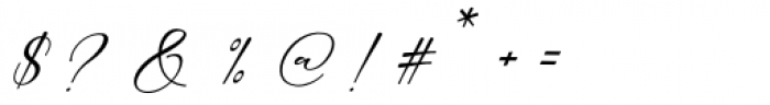 Carliste Script Regular Font OTHER CHARS
