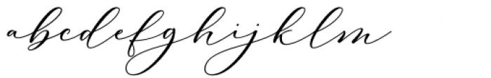 Carliste Script Regular Font LOWERCASE