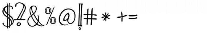 Carmencita Regular Font OTHER CHARS