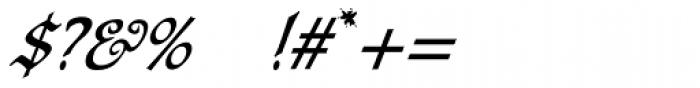 Carmilla Swash Font OTHER CHARS