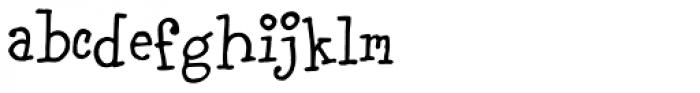 Carnation Font LOWERCASE