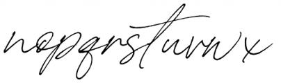 Carneys Gallery Script Font LOWERCASE
