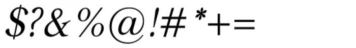Carniola Italic Font OTHER CHARS