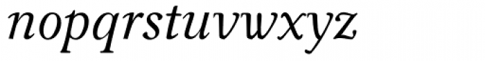 Carniola Italic Font LOWERCASE