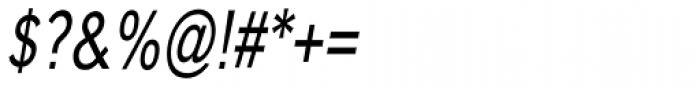 Carnova Narrow Oblique Font OTHER CHARS