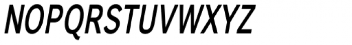Carnova Narrow SemiBold Oblique Font UPPERCASE