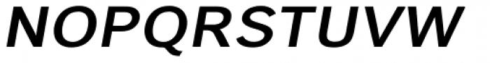 Carnova Wide SemiBold Oblique Font UPPERCASE