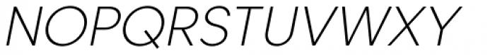 Caros Extra Light Italic Font UPPERCASE