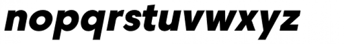Caros Heavy Italic Font LOWERCASE