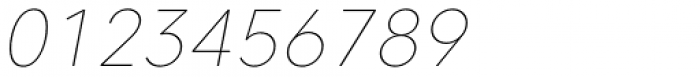Caros Thin Italic Font OTHER CHARS