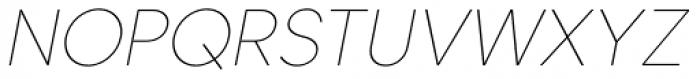 Caros Thin Italic Font UPPERCASE