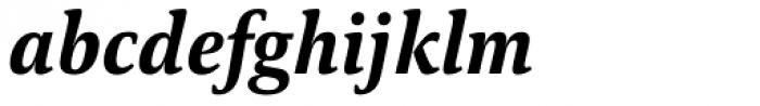 Carrara Extra Bold Italic Font LOWERCASE