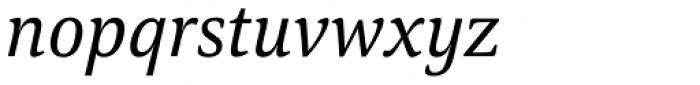 Carrara Italic Font LOWERCASE