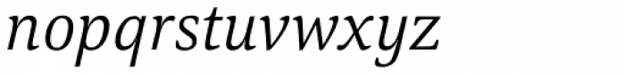 Carrara Light Italic Font LOWERCASE