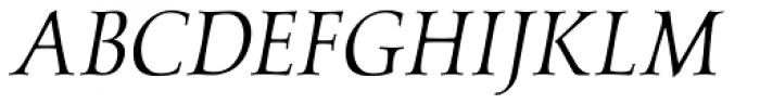 Carrig Display Italic Font UPPERCASE