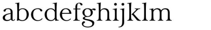 Carrig Pro Light Font LOWERCASE