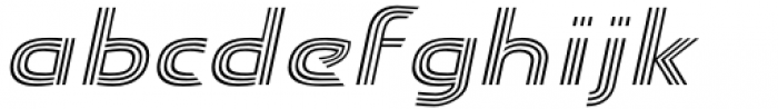 Carrigallen Display Italic Font LOWERCASE