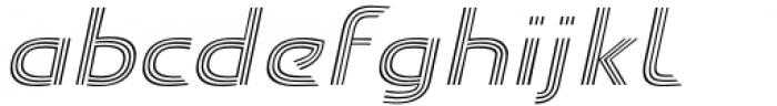 Carrigallen Display Light Italic Font LOWERCASE