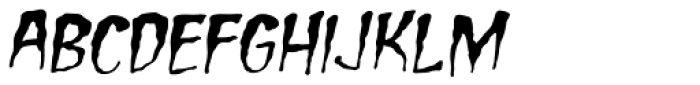 Carry On Screaming Italic Font LOWERCASE