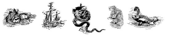 Carta Marina Dragons Here Font LOWERCASE