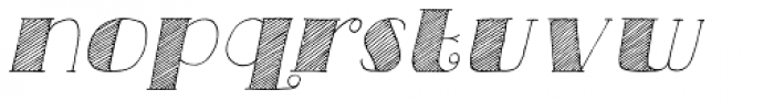 Carte Blanche Italic Font LOWERCASE