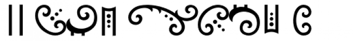 Cartouche Font OTHER CHARS