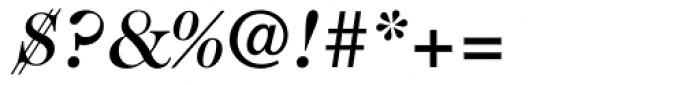 Caslon 224 Medium Italic Font OTHER CHARS