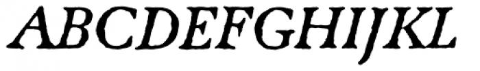 Caslon Antique Italic Font UPPERCASE