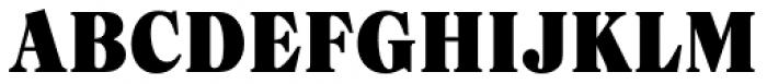 Caslon Black Regular Font UPPERCASE