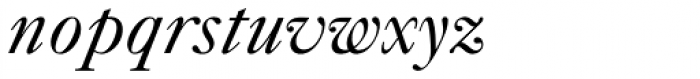 Caslon FiveForty Italic Font LOWERCASE