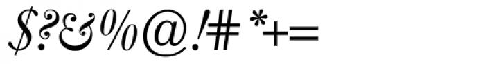 Caslon FourSeventyone BQ Italic Font OTHER CHARS