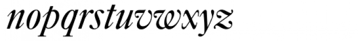 Caslon FourSeventyone BQ Italic Font LOWERCASE