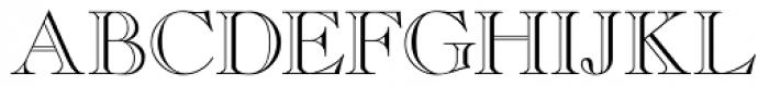 Caslon Open Face Regular Font UPPERCASE