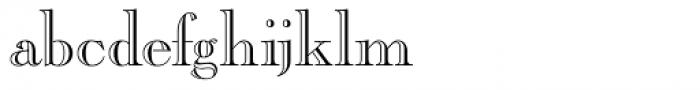 Caslon Open Face Regular Font LOWERCASE