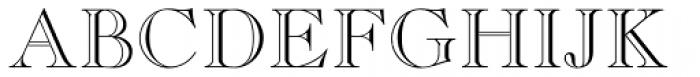 Caslon Open Face Font UPPERCASE